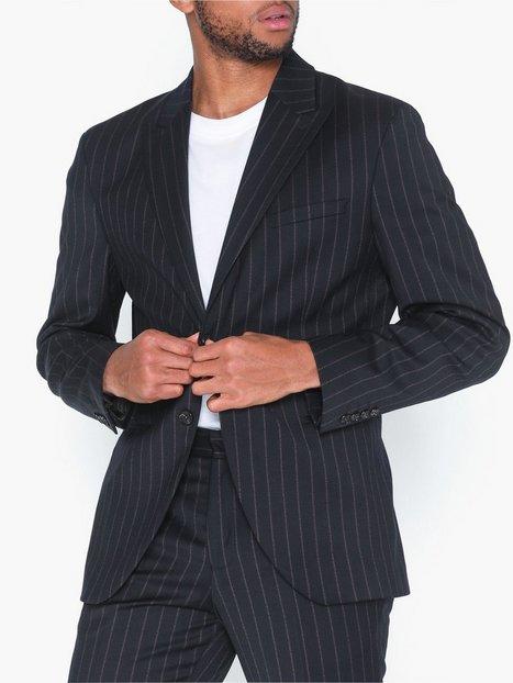 Selected Homme Slhslim Drew Navy Stripe Blz B Blazere jakkesæt Mørkeblå - herre