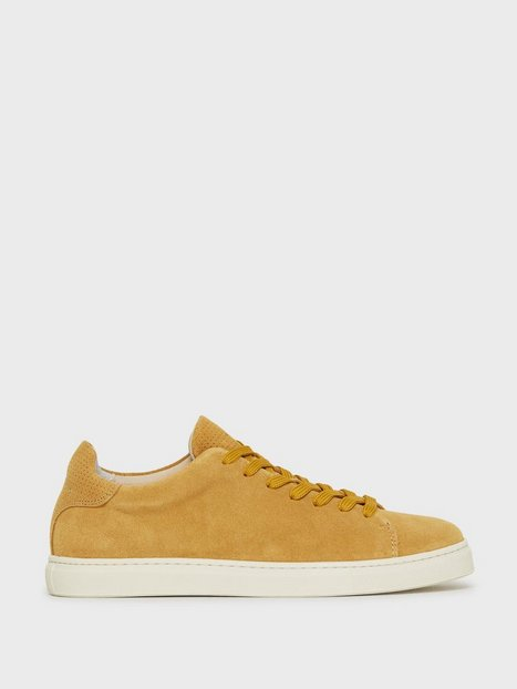 Selected Homme Slhdavid Suede Perforated Trainer W Sneakers Tan mand køb billigt