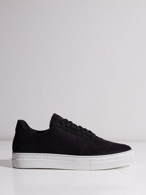 Selected Homme Slhcris Nubuck Trainer W Sneakers Sort - herre