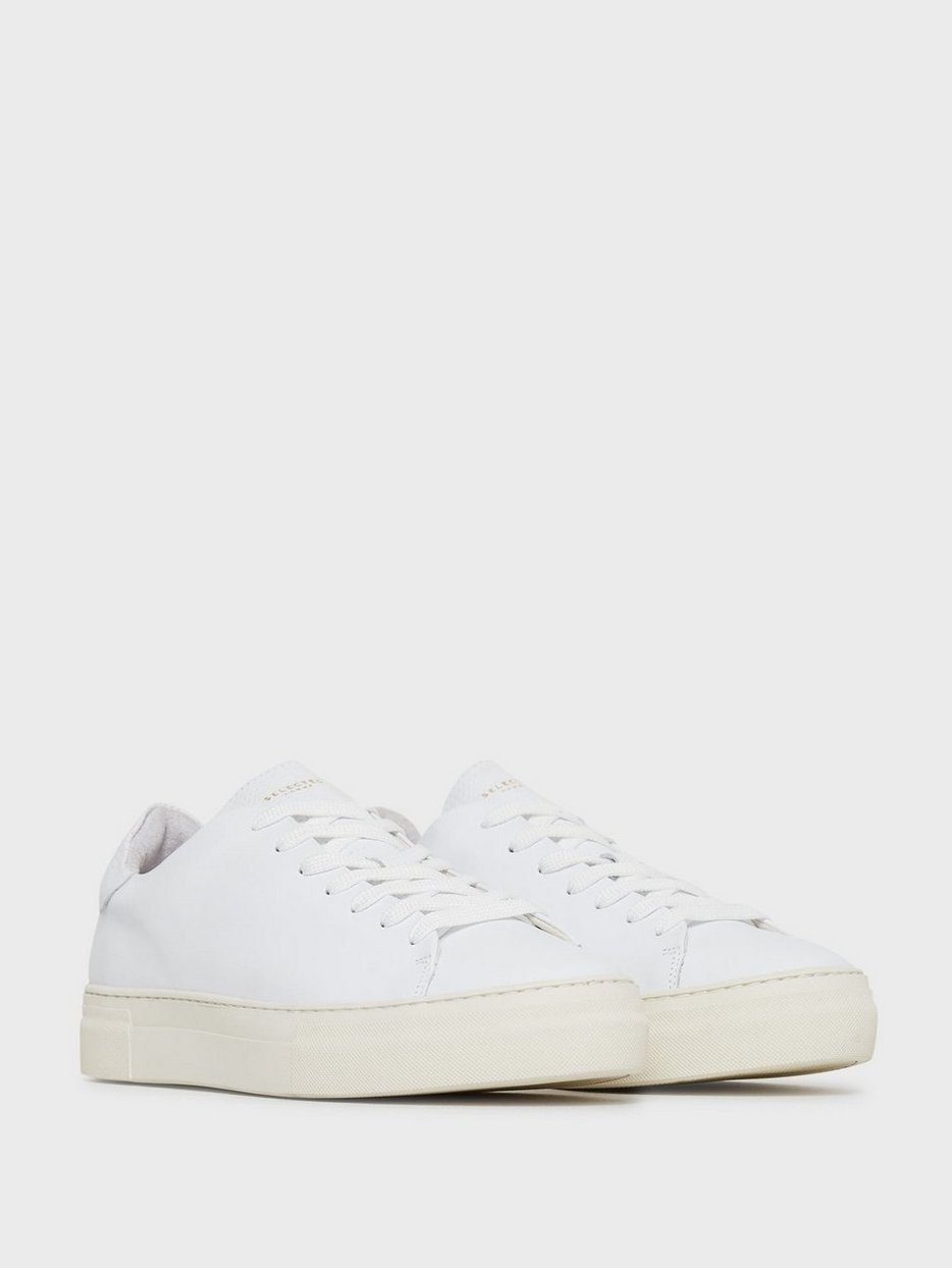 SLHDAVID CHUNKY  LEATHER TRAINER W
