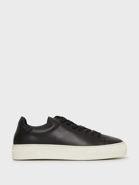 Selected Homme Slhdavid Chunky Leather Trainer W Sneakers Sort - herre