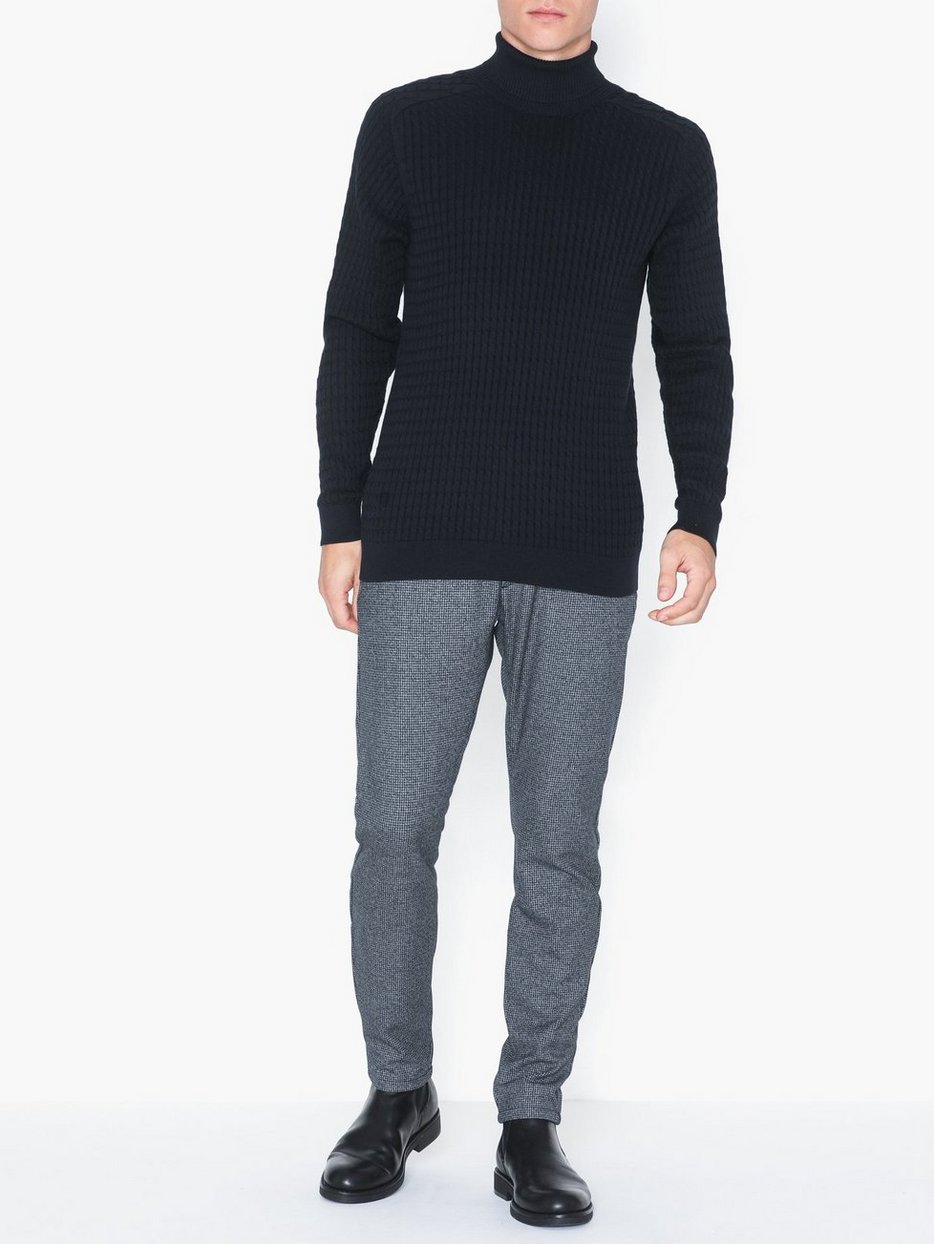 SLHCARLOS CABLE ROLL NECK W