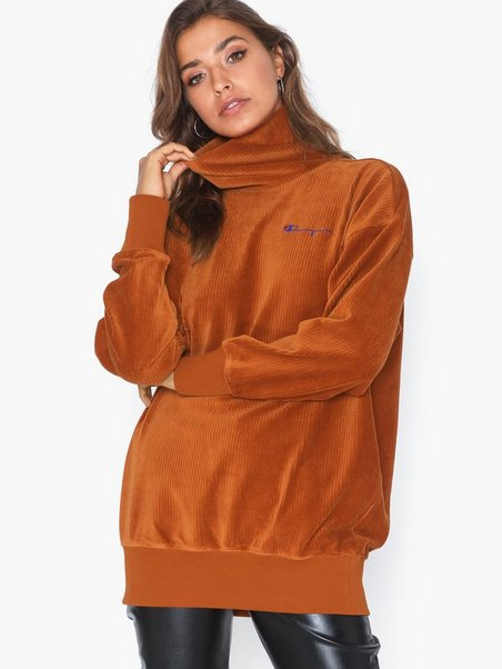 Champion Reverse Weave HIGH NECK - Sweater brown