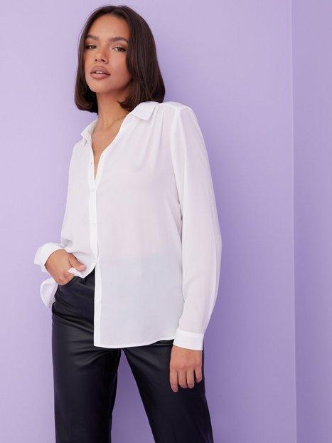 Vila Vilucy L/S Button Shirt - Noos Hverdagsbluser Hvid