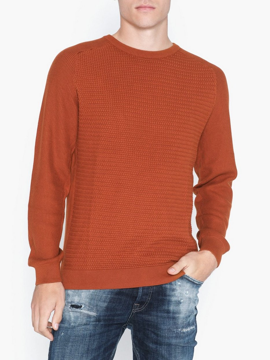 JPRPOST KNIT CREW NECK STS