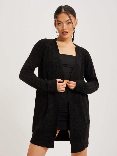 Pieces Pcellen Ls Long Knit Cardigan Noos Cardigans Black