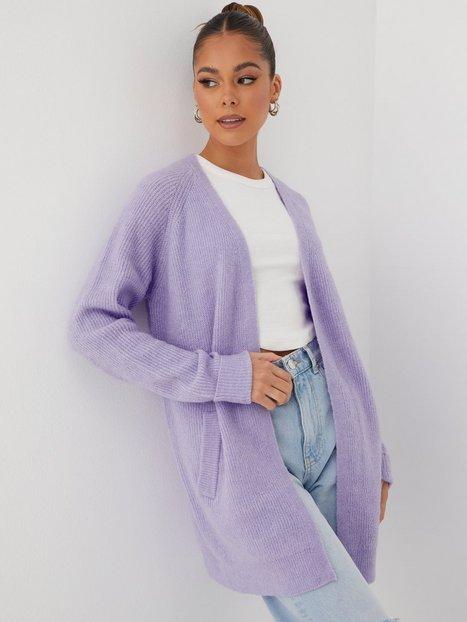 Pieces Pcellen Ls Long Knit Cardigan Noos Cardigans Lavender Cp