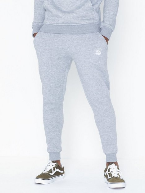 SikSilk Muscle Fit Jogger Bukser Grey Marl mand køb billigt