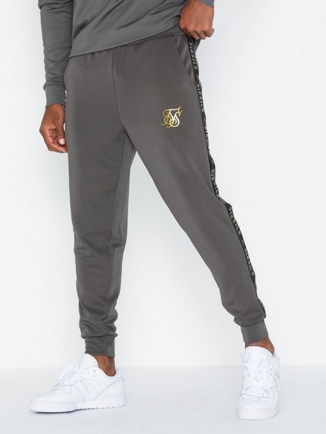 SikSilk Cuffed Cropped Taped Joggers Bukser Cement mand køb billigt