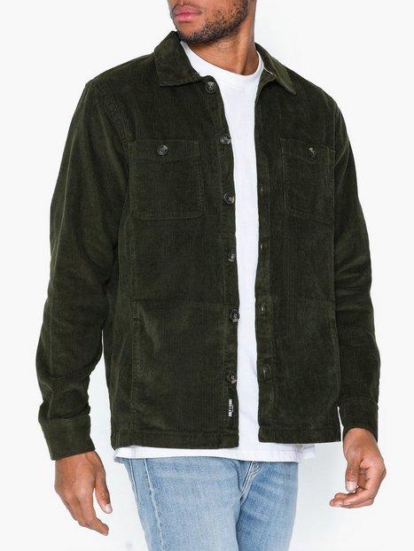 Only Sons onsLEO Ls Heavy Corduroy Overshirt T shirts undertrøjer Mørkegrøn mand køb billigt