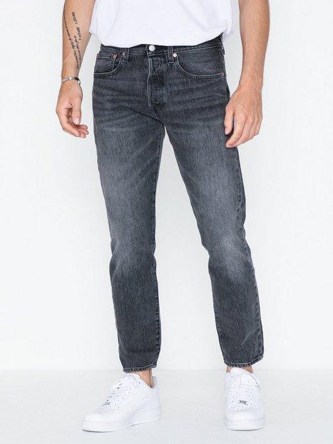 Levis 501 Slim Taper Just Grey Jeans Denim Blå - herre