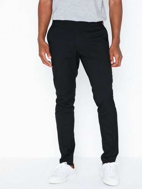 Selected Homme Slhskinny Mylologan Black Trs B Ex Bukser Sort - herre