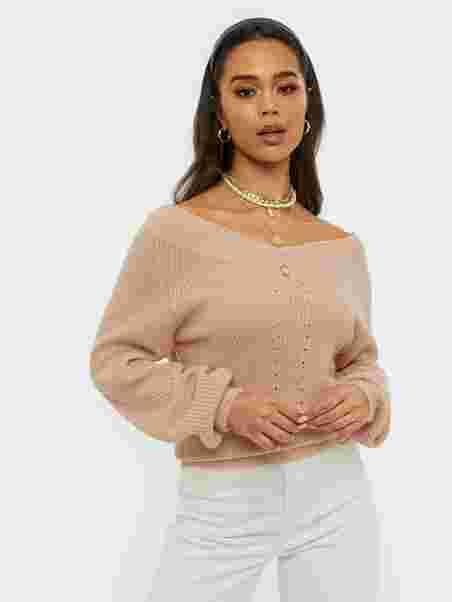 V Neck Shoulder Knit, NLY Trend