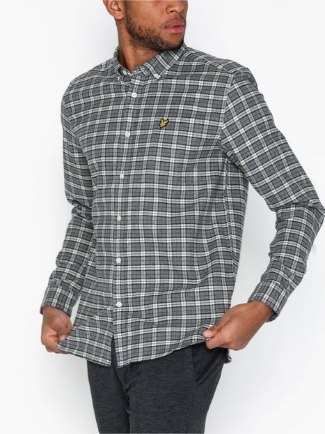 Lyle Scott Check Flannel Shirt Skjorter Sesame - herre