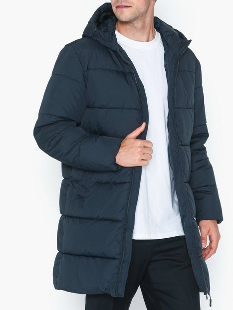 Jack Jones Jorknight Long Puffer Jacket Jakker frakker Mørkeblå - herre
