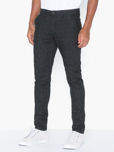 Jack Jones Jjimarco Jjcharles Check Akm 783 Dg Bukser Sort - herre