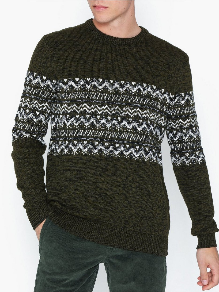 ONSTOMAS 7 JAQ CREW NECK KNIT
