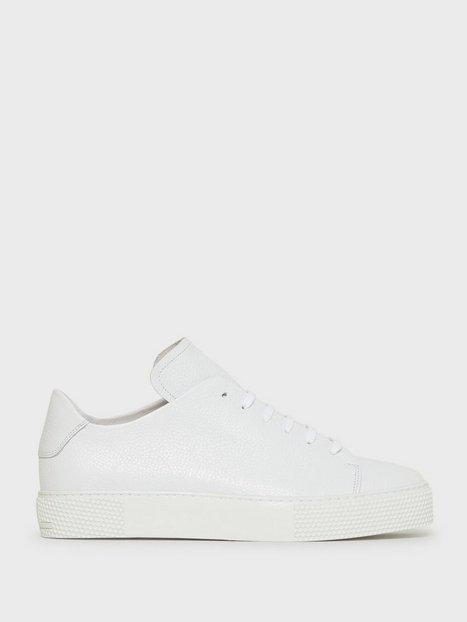 J Lindeberg Sneaker LT Clean-Leather Grain Sneakers & textilskor White