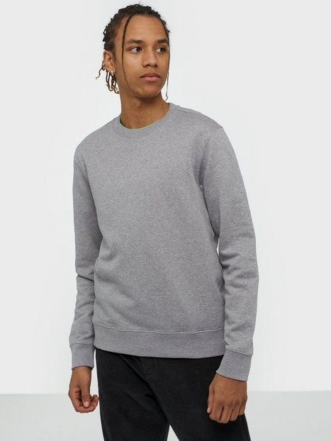J Lindeberg Throw c-neck-Clean sweat Tröjor Grey Melange