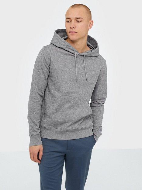 J Lindeberg Throw Hood Clean sweat Trøjer Grey Melange mand køb billigt