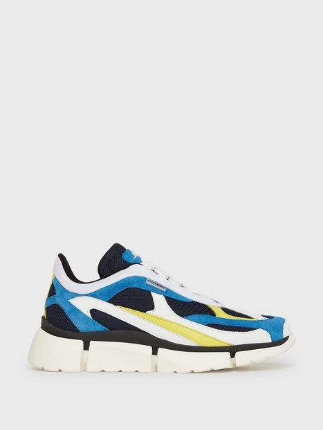 J Lindeberg Sane Runner Mixed fabric Sneakers Blue mand køb billigt