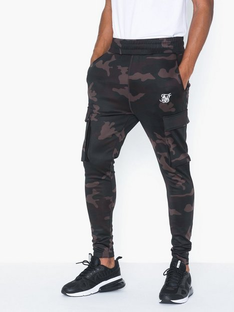 SikSilk Poly Athlete Cargo Pants Bukser Camo - herre