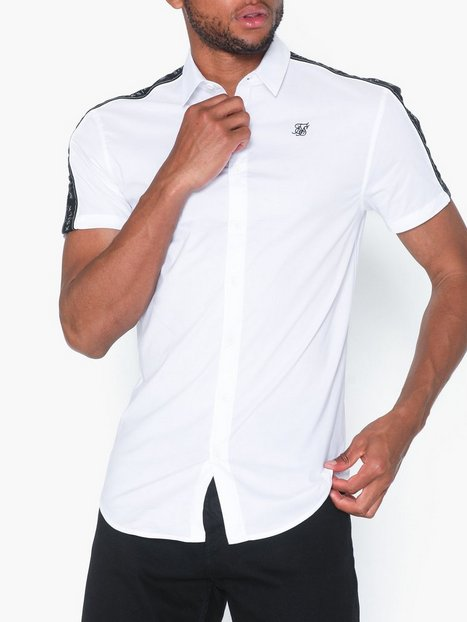 SikSilk S/S Pipe Tape Shirt Skjorter White