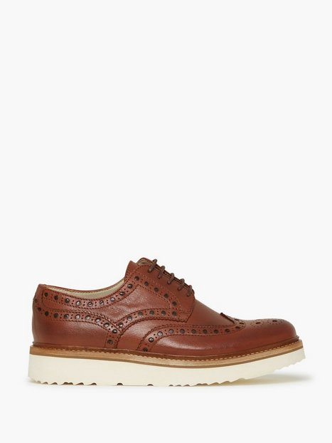 Jack Jones Rddjude Leather Royal Brogue Dark Elegante sko Brun - herre
