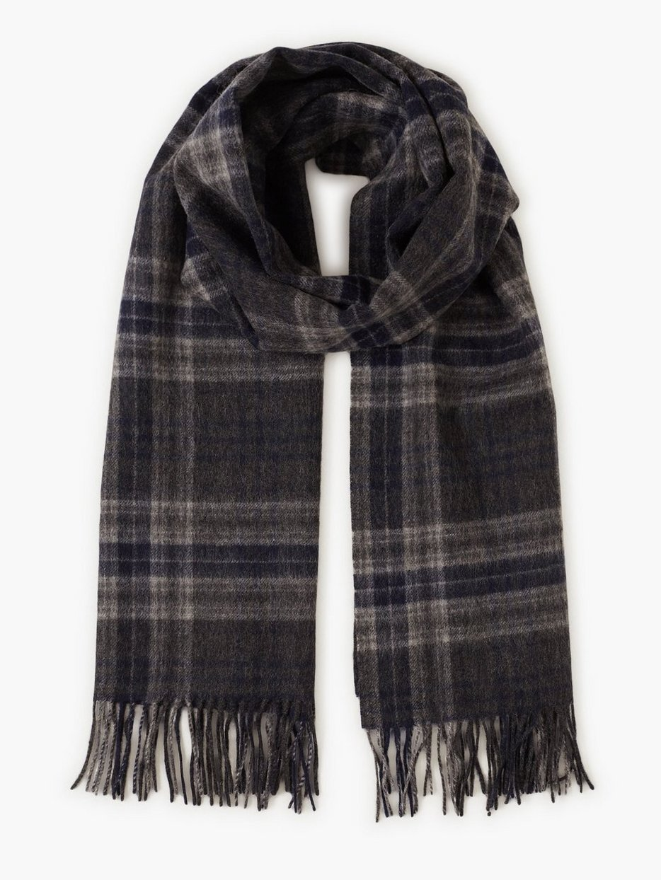 SLHTIME WOOL SCARF CHECK B