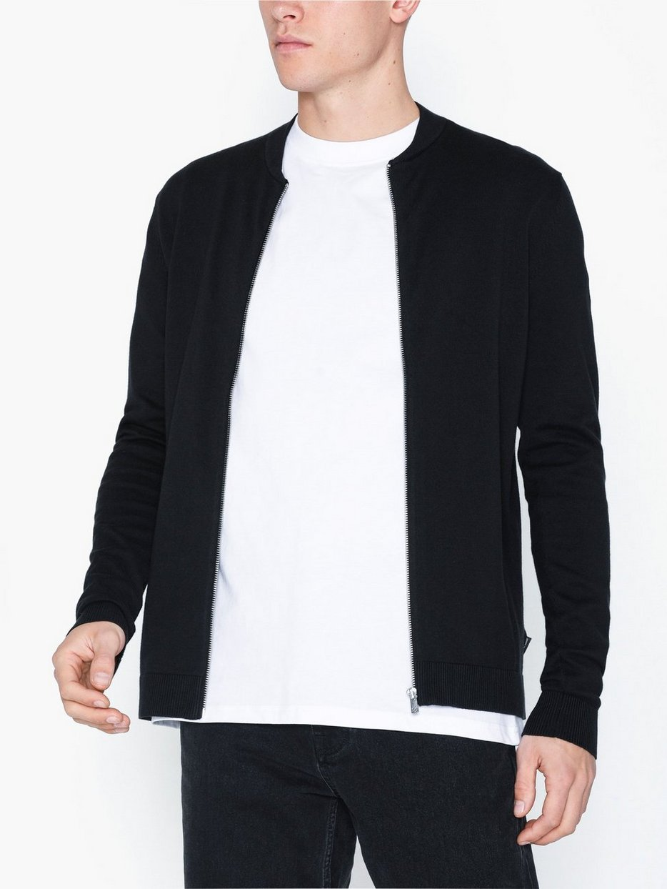 JPREDGAR KNIT ZIPPER BASEBALL CARDI