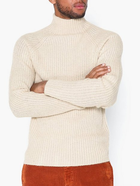 Premium by Jack Jones Jprjam Knit High Neck Trøjer Beige - herre
