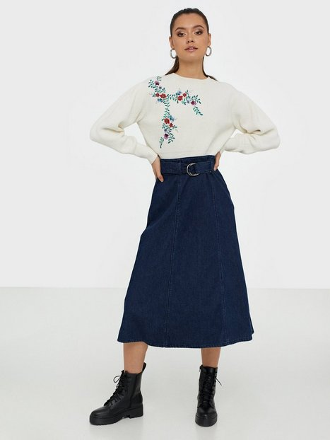Only Onlronja Hw Belted Dnm Skirt