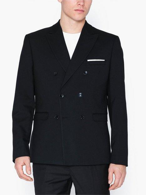 Selected Homme Slhslim Cale Black Struc Blz B Blazere jakkesæt Sort - herre