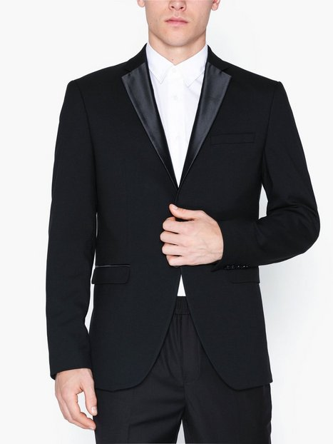 Selected Homme Slhslim Tigalogan Black Tux Blz B Blazere jakkesæt Sort mand køb billigt