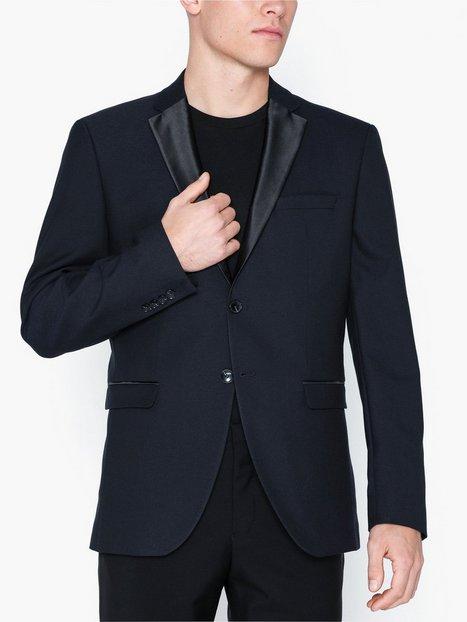 Selected Homme Slhslim Tigalogan Navy Tux Blz B Blazere jakkesæt Mørkeblå mand køb billigt