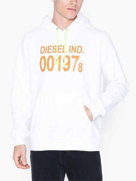Diesel S Girk Hood Sweat Shirt Trøjer White - herre