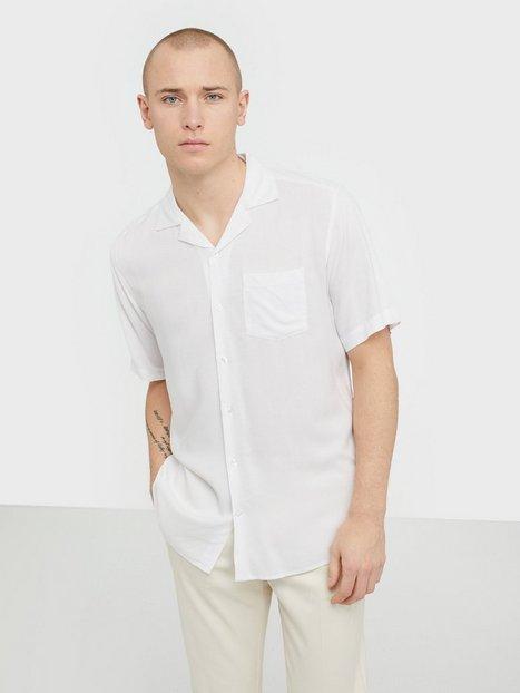 Only Sons onsSILO Ss Solid Reg Viscose Shirt Skjorter Hvid - herre