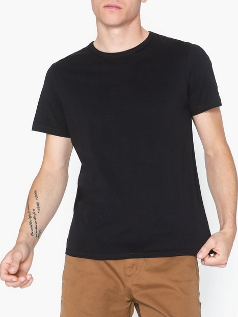Jack Jones Jacbasic Crew Neck Tee Ss 2 Pack No T shirts undertrøjer Sort - herre