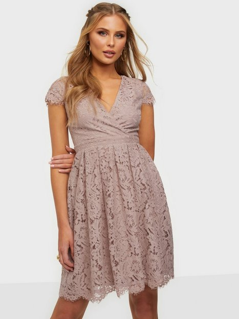 NLY Trend Lace Wrap Midi Dress Loose fit Dusty Pink