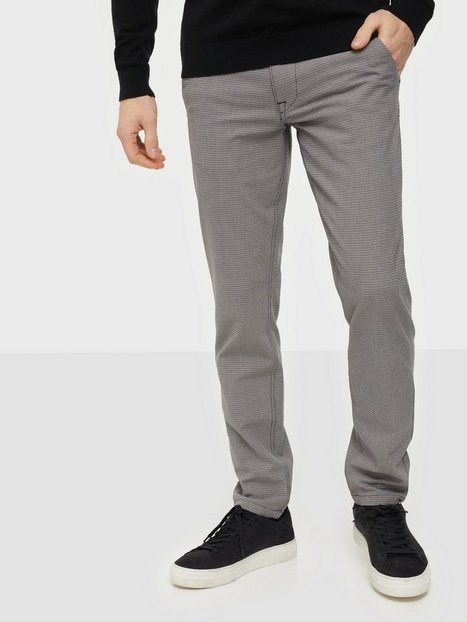Selected Homme Slhslim-Storm Flex Smart Pants W No Bukser Sand Houndstooth