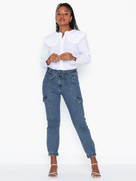 Only Onlpatricia Cargo Md Blu Dnm Jeans