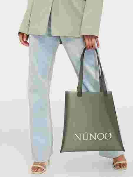 Nunoo Small Tote Vegan Veske Grønn
