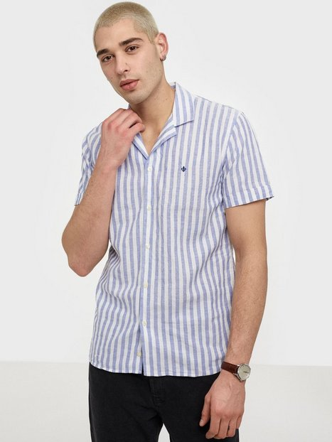 Morris Theo Bowling Shirt Skjorter Blue - herre