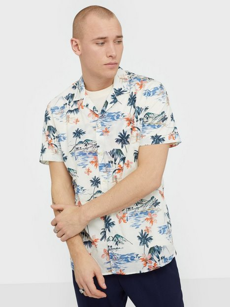 Morris David Bowling Shirt Skjorter Offwhite - herre