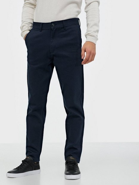 Selected Homme Slhslimtapered-Max Twill Pants W Bukser Mørkeblå