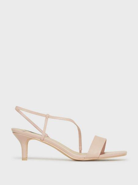 Cross Strapped Heel Sandal