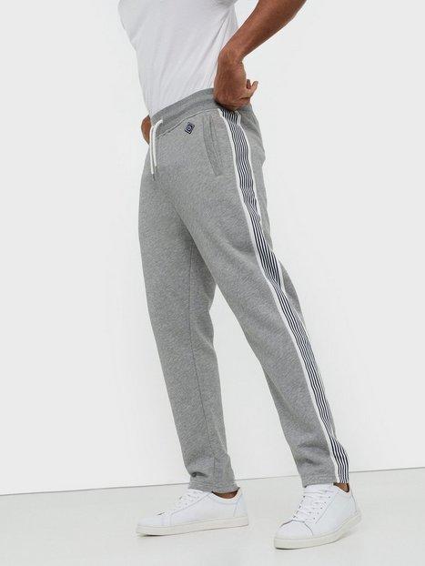 Gant D1. Gant Stripe Sweat Pants Bukser Grey Melange - herre