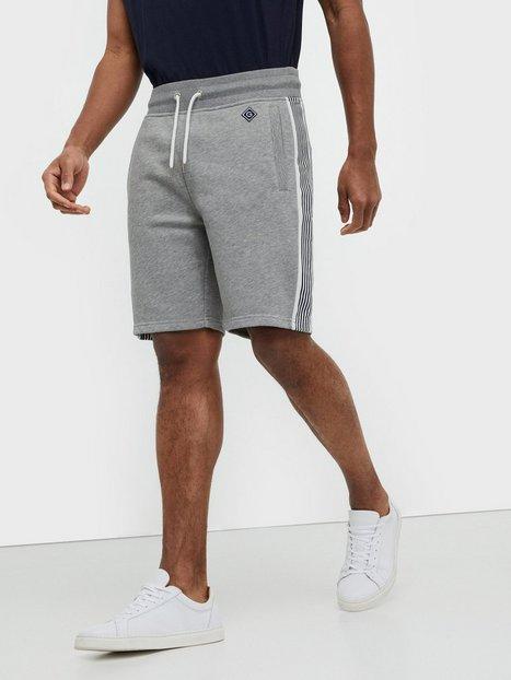 Gant D1. Gant Stripe Sweat Shorts Shorts Grey Melange mand køb billigt