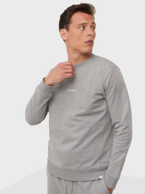 Les Deux Lens Sweatshirt Trøjer Light Grey Melange