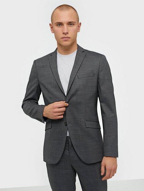 Selected Homme Slhslim Mylostate Grey Struc Blz B Blazere jakkesæt Grå mand køb billigt